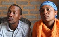 The parents of slain toddler Curburne van Wyk in Reiger Park. Picture: EWN.