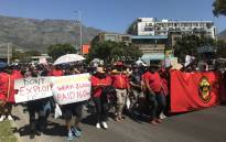 FILE: Firefighters and members of Samwu march in Cape Town on 26 September 2019. Picture: Kaylynn Palm/EWN