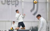 Portugal and Juventus forward Cristiano Ronaldo during a training session. Picture: @Juventus/Facebook.com.