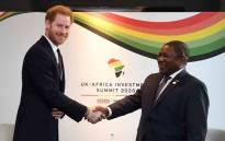 Britain's Prince Harry, Duke of Sussex, meets with Mozambique's President Filipe Nyusi during the UK-Africa Investment Summit in London on 20 January 2020. Picture: AFP