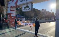 Kenya's Rhonex Kipruto crosses the finish line in Valencia on 12 January 2020. Picture: @10KValencia/Twitter