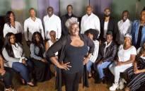 Leader Karen Gibson and The Kingdom Choir. Picture: @TheKingdomChoir/Facebook