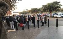 FILE: The lengthy queue at the Maponya Mall Sassa office where some people have been waiting since the night before in order to get their social grants. Picture: Kgomotso Modise/Eyewitness News