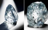 FILE: The exceptional 122.52 carat blue diamond recovered at Petra Diamondss mine in Cullinan, June 2014. Picture: Supplied.