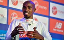 Britain's Mo Farah speaks during a press conference following a photocall for the London marathon at Tower Bridge in central London on 24 April 2019. Picture: AFP