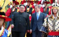 FILE: North Korean leader Kim Jong Un and South Korean President Moon Jae-in meet at the border truce village of Panmunjom in South Korea for talks on 27 April 2018. Picture: AFP