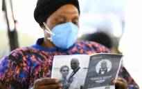 A mourner attends the memorial service of Lindani Myeni on 6 May 2021 in Empangeni. Picture: @kzngov/Twitter