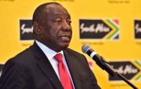 President Cyril Ramaphosa addresses business leaders at a business breakfast in Beijing. Picture: GCIS