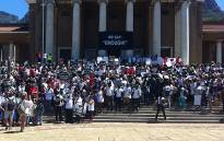 FILE: UCT staff and students protest. Picture: Shamiela Fisher/EWN