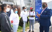 Cape Town Mayor Dan Plato hosted a drive at Athlone Stadium on 15 September 2021 to encourage the 18-34 age group to get vaccinated. Picture: @CityofCT/Twitter