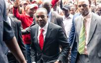 Zimbabwean opposition leader of the MDC (Movement for Democratic Change) Alliance, Nelson Chamisa(C), arrives at his party headquarters, the Morgan Tsvangirai House, in Harare, on 20 November 2019. Picture: AFP