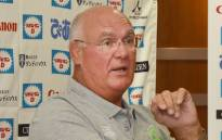 This file photo taken on 14 August 2015 shows then-assistant coach of the World XV team, Andy Haden, speaking during a press conference in Tokyo. Picture: AFP