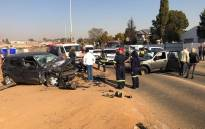 Three adults and a baby were injured in a crash on 15 June. Picture: Arrive Alive.
