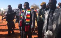Zimbabwe President Emmerson Mnangagwa leaves Kwekwe after casting his vote during the presidential elections on 30 July 2018. Picture: Masechaba Sefularo/EWN