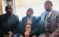 Transport Minister Blade Nzimande boarded a train in Mamelodi on 5 October 2018 to experience first-hand the challenges that commuters face. Picture: @SAgovnews/Twitter