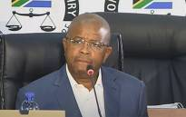 A screengrab of former Passenger Rail Agency of South Africa (Prasa) CEO Lucky Montana appearing at the state capture inquiry on 11 May 2021. Picture: SABC/YouTube