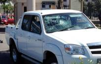 The Mazda double cab used by the robbers at Emperors Palace Casino on the East Rand on 28 April 2013. Picture: Shain Germaner/EWN