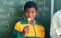 Leo Williams (9) who was shot in the head during service delivery protests in Laingville in the Western Cape. Picture: Supplied