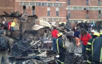 FILE: 10 shacks caught alight on 25 June behind the Helen Joseph Hostel in Alexandra. Picture: Jacob Moshokoa/EWN