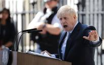 Britain's new Prime Minister Boris Johnson gives a speech outside 10 Downing Street in London on 24 July 2019 on the day he was formally appointed British prime minister. Picture: AFP