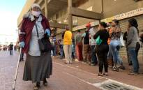 FILE: Pensioner Anne Snyman leaves Mitchells Plain's Town Centre after collecting her pension payout on 30 March 2020. Picture: Kaylynn Palm/EWN