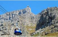 Cable car carries passengers to Table Mountain in the City's Aerial Cableway. Picture: Wikimedia Commons.