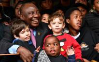 President Cyril Ramaphosa pictured with children at the Red Cross War Memorial Children's Hospital in Rondebosch, where he was interviewed by them on Mandela Day. Picture: @PresidencyZA/Twitter
