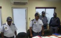 FILE: King Williams Town Cluster Commanders observe a moment of silence for the five police officers who were killed in an attack on the Ngcobo Police Station. Picture: SAPS.