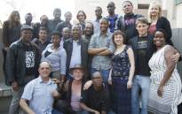 Respected screenwriter, showrunner and mentor Thandi Brewer (front row, centre) with NFVF's 2013 Spark group. Picture: Supplied.