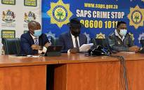 KwaZulu-Natal Premier Sihle Zikalala (left) and Police Minister Bheki Cele at a briefing on 3 August 2021 on developments related to the looting and riots that happened in the province in July. Picture: Picture: Nkosikhona Duma/Eyewitness News