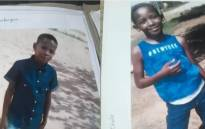 Onalenna Molehabangwe and Gontse Cholo, both 10-years-old, were allegedly kidnapped on the evening of Tuesday 5 March 2019 while playing at a park in Montshiwa Location, North West. Picture: @SAPoliceService/Twitter
