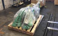 FILE: Rhino horns seized at the OR Tambo International Airport in January. Picture: Supplied
