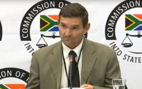 A screengrab of former Bosasa employee Richard le Roux gives evidence at Zondo commission of inquiry into state capture on 31 January 2019.