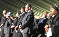 Former president Kgalema Motlanthe and former AU chair Nkosazana Dlamini Zuma in attendance at Keorapetse Kgositsile's funeral. Picture:  Kgomotso Modise/EWN