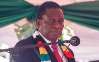 Zimbabwe President Emmerson Mnangagwa takes his oath of office in Harare on August 26, 2018 Picture: AFP.