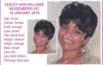 Lesley-Anne Williams. Picture: @MissingMinorsThePinkLadiesOrganizationNgo2007 via Facebook.com.