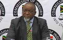 A video screengrab of ANC chairperson Gwede Mantashe at the commission of inquiry into state capture in Parktown, Johannesburg, on 27 November 2018. Picture: YouTube