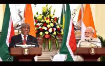 President Cyril Ramaphosa on his state visit to india and Prime Minister Narendra Modi. Picture: GCIS.