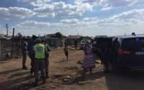 Community Safety MEC Sizakele Nkosi-Malobane's in Matholeville visiting illegal mining hotspots. Picture: Ziyanda Ngcobo/EWN.