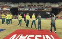 The Proteas women shake hands with their Bangladeshi counterparts following their ICC Women's World T20 match at the Darren Sammy National Cricket Stadium, Gros Islet in St Lucia on 19 November 2018. Picture: @OfficialCSA/Twitter