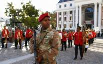 FILE: An SANDF soldier patrols in the streets near the Parliament ahead of the arrival of President Zuma for the opening ceremony of the State of the Nation Address (Sona) on 9 February 2017. Picture: AFP.
