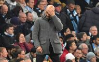 Manchester City manager Pep Guardiola reacts during the UEFA Champions League quarterfinal second-leg football match between against Tottenham Hotspur at the Etihad Stadium in Manchester, north-west England on 17 April 2019. Picture: AFP