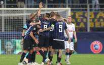Inter Milan players celebrate their victory over Tottenham Hotspur in their Champions League Group B opener. Picture: @Inter/Facebook.com.