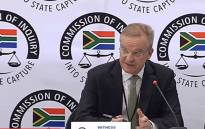 A screengrab shows Nedbank CEO Mike Brown give testimony at the state capture inquiry on 19 September 2018. Picture: SABC Digital News/youtube.com