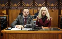 Afriforum's Ernst Roets and Monique Taute make oral submission before Parliament's constitutional review committee on 6 September 2018. Picture: @afriforum/Twitter