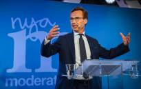 Ulf Kristersson, leader of the Moderate Party in Sweden, addresses supporters at an election night party following general election results in Stockholm on 9 September, 2018. Picture: AFP.