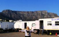 'Pitch Perfect' actress Rebel Wilson on set of her new movie 'Grimsby' on 17 August, which is being shot in Cape Town. Picture: Twitter.