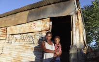 Kliptown resident Nomthandazo Boqwane with her nine-month-old daughter. Picture: New Frame/Nation Nyoka