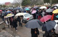 FILE: Rhodes students march in honour of Khensani Maseko on 7 August 2018. Picture: @Rhodes_Uni/Twitter