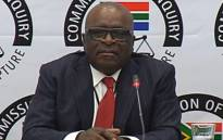 A screengrab of Former Public Service and Administration Minister Ngoako Ramatlhodi appears at the state capture commission on 28 November 2018.